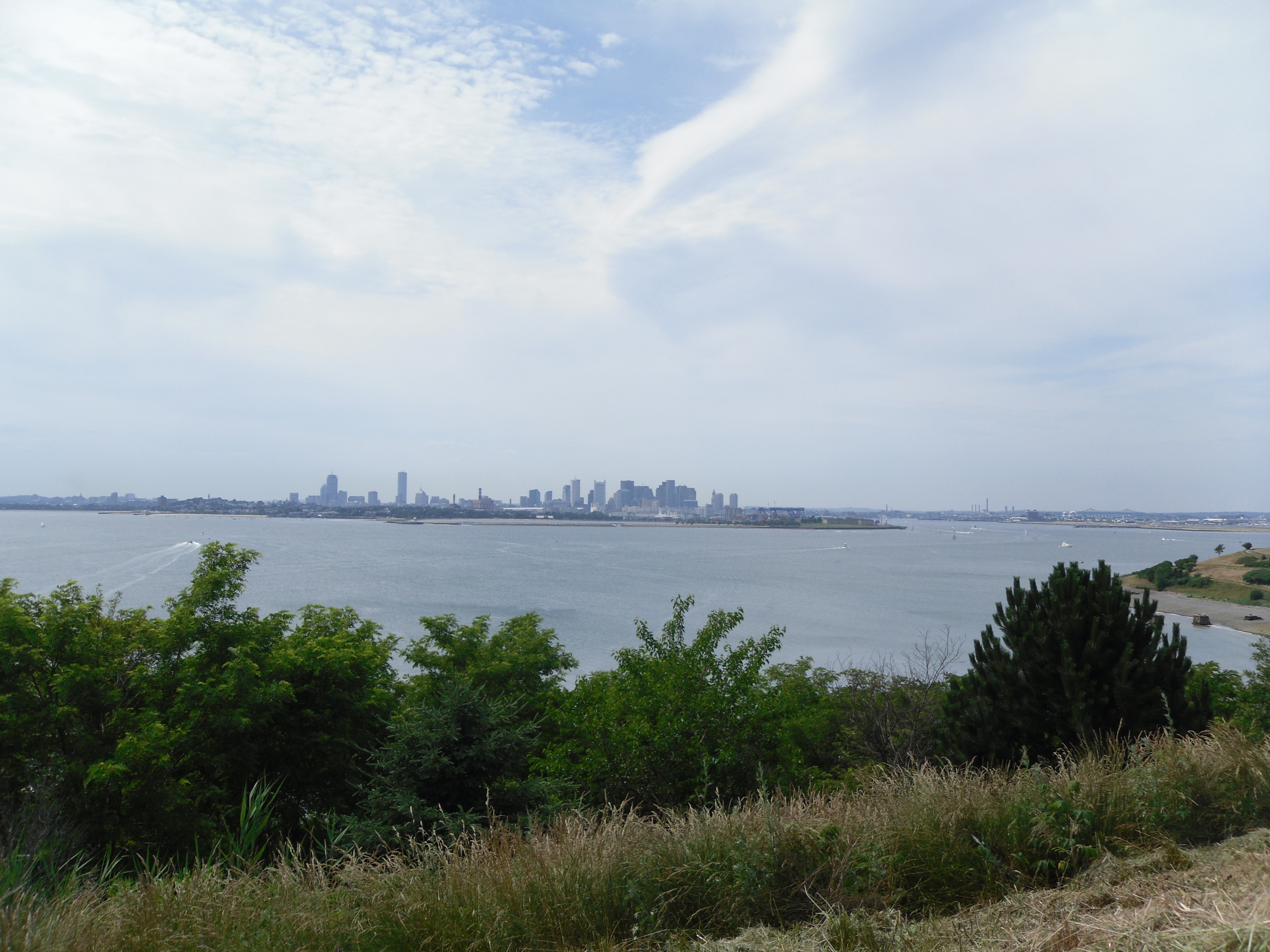 Boston Skyline From Spectacle Island, Coastal Day Trips From Boston