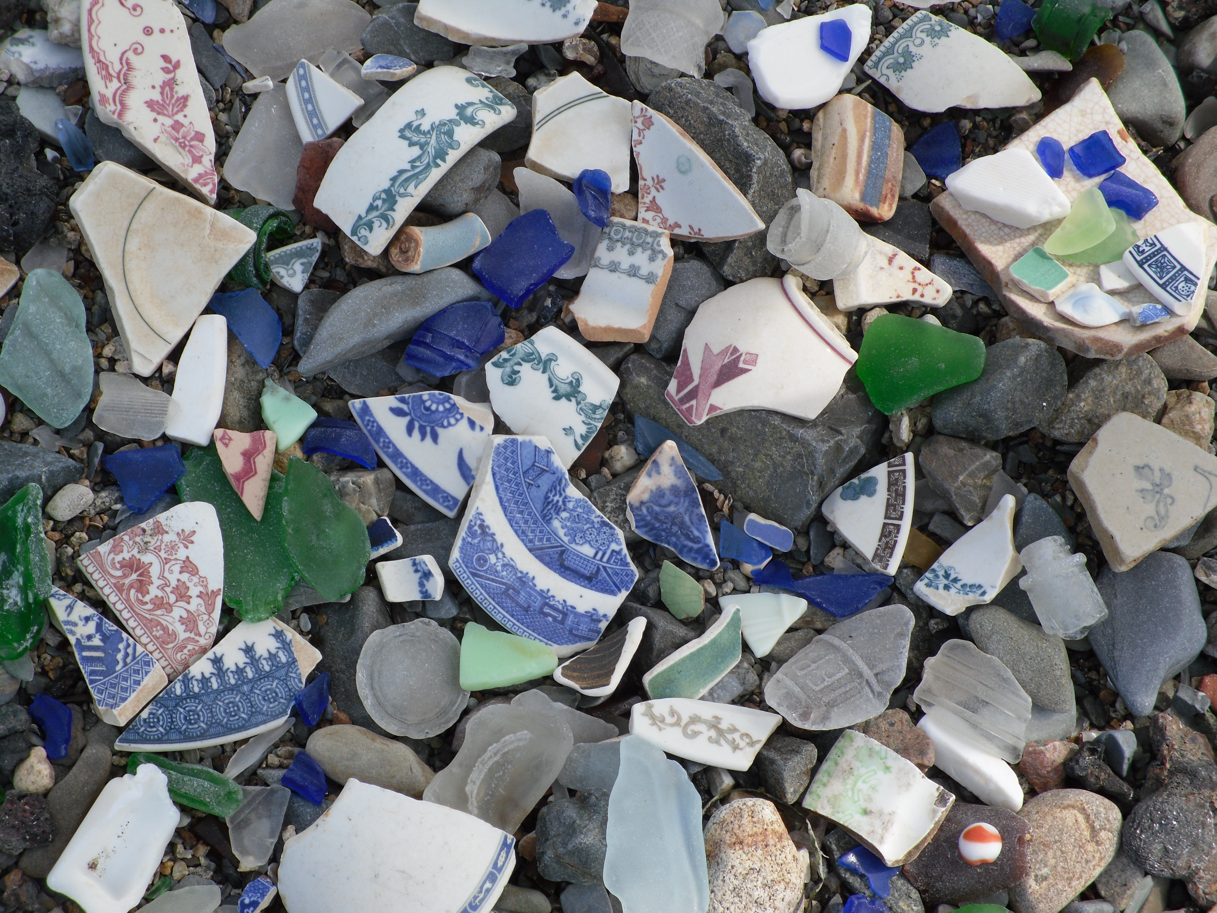Beach Glass on Spectacle Island, Coastal Day Trips From Boston
