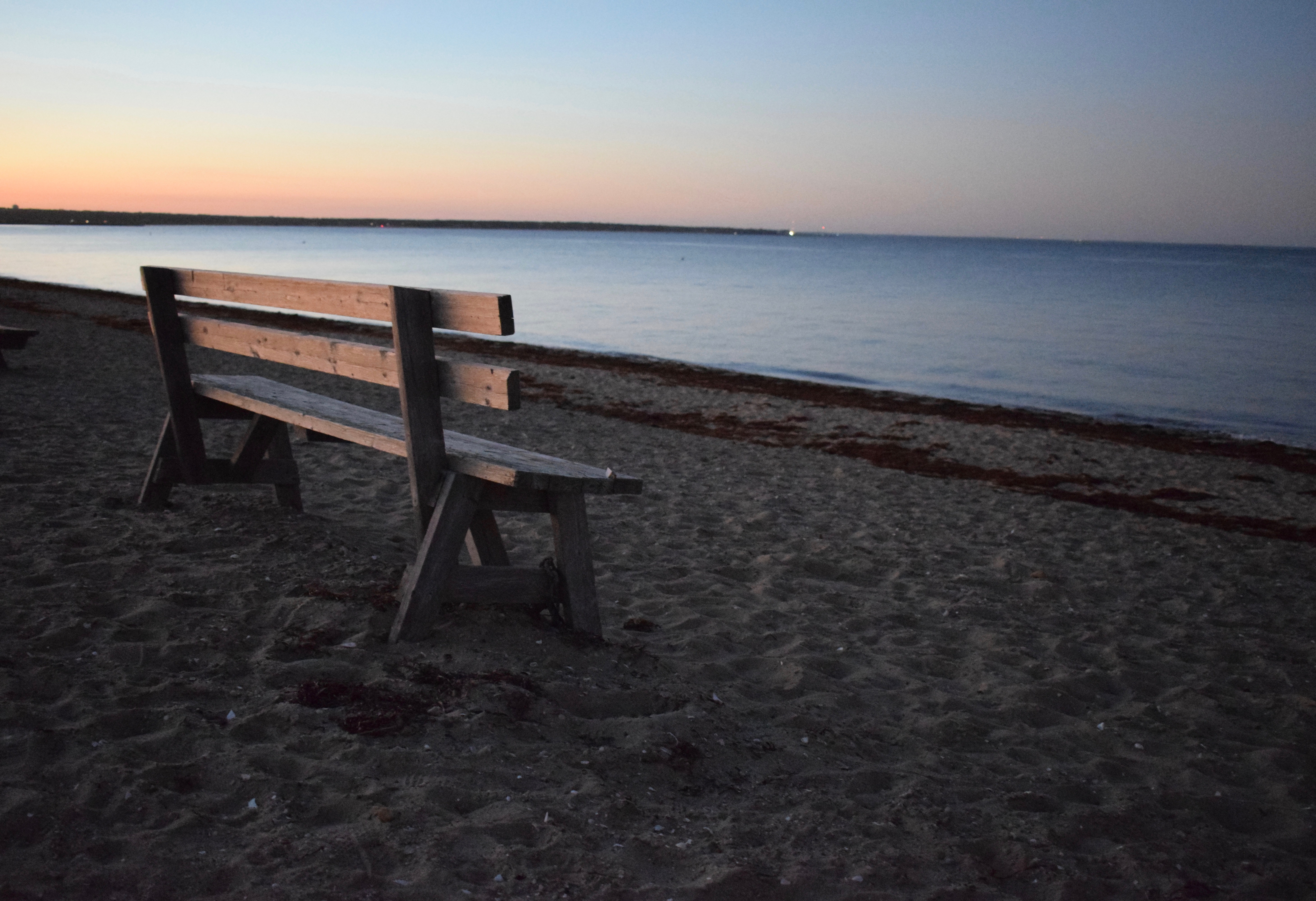 Favorite Things, Bench and Sunset at State Beach, Martha's Vineyard