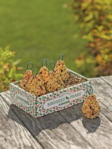 Gardener's Supply Co. Pear-Shaped Birdseed Ornaments, Thank You Gifts for Your Hosts