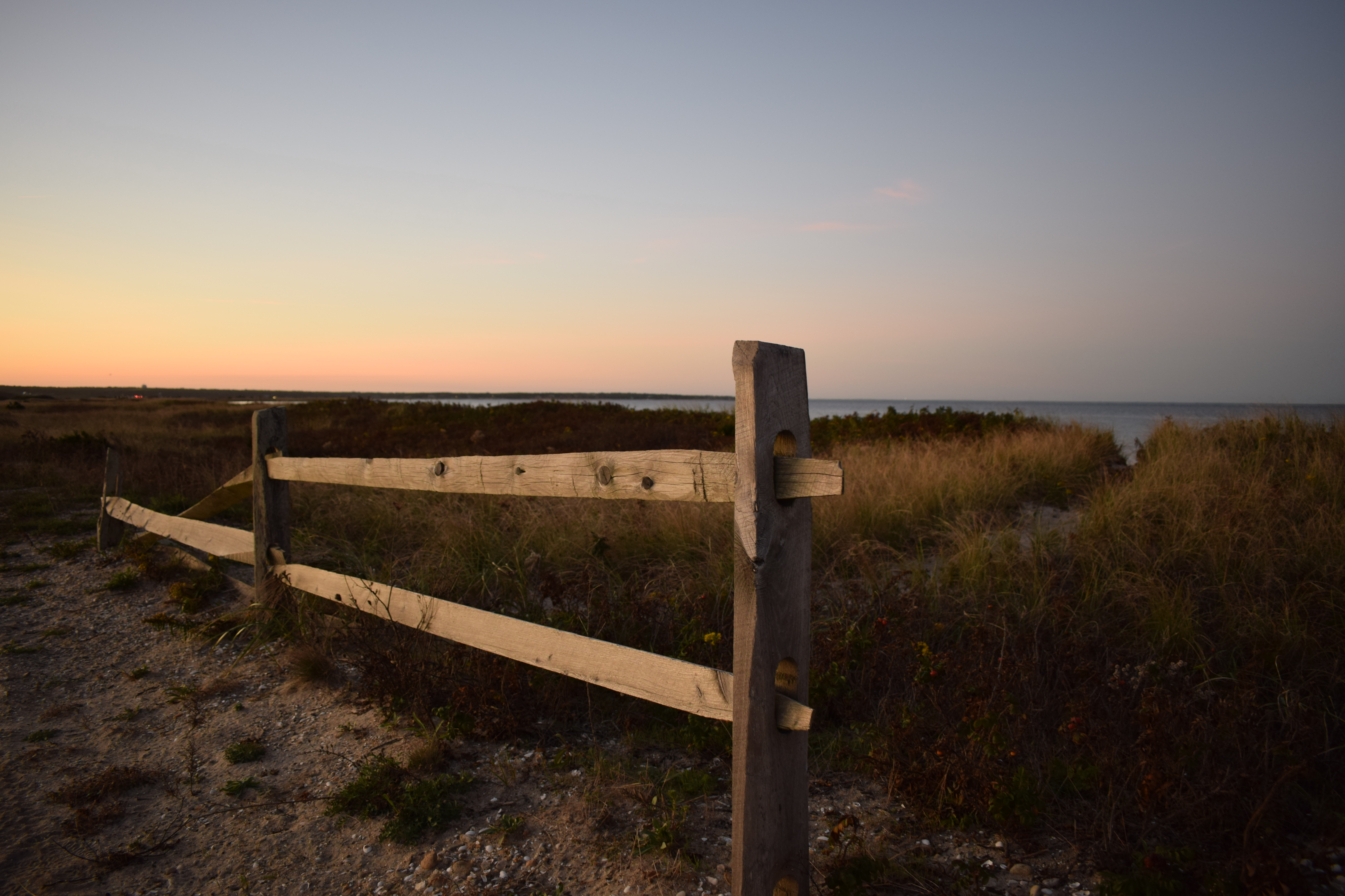 Favorite Things, Fence and Sunset at State Beach, Martha's Vineyard