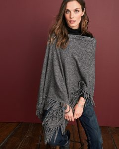 Cashmere Fringe Ruana, Holiday Gifts for Women