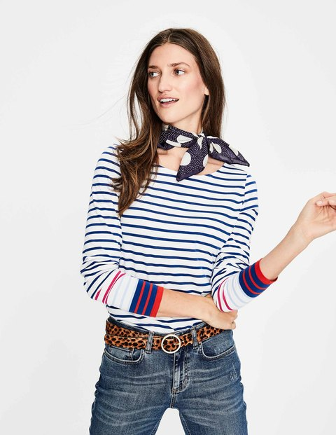 Boden Breton in Riviera Blue, Striped Shirts With a Little Something Extra