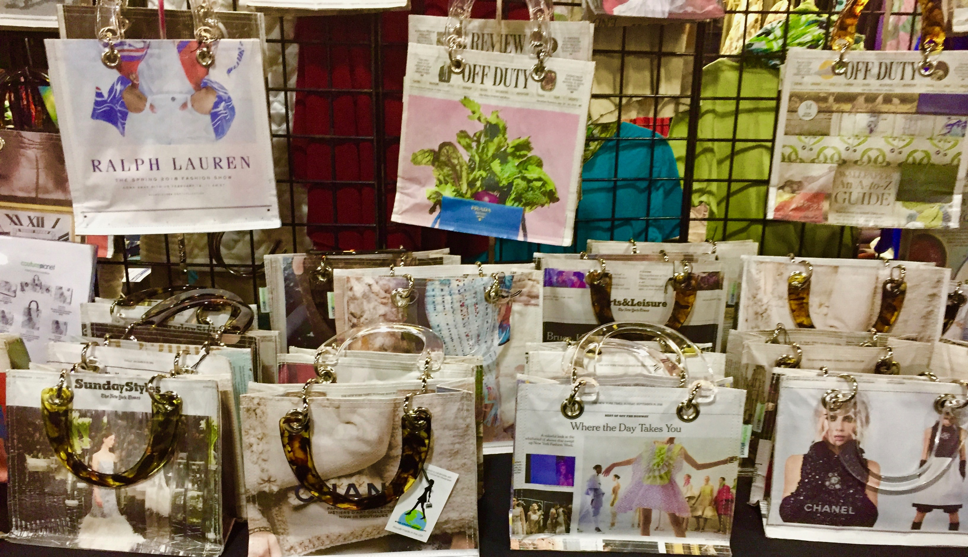 Couture Planet Handbags Displayed At A Show