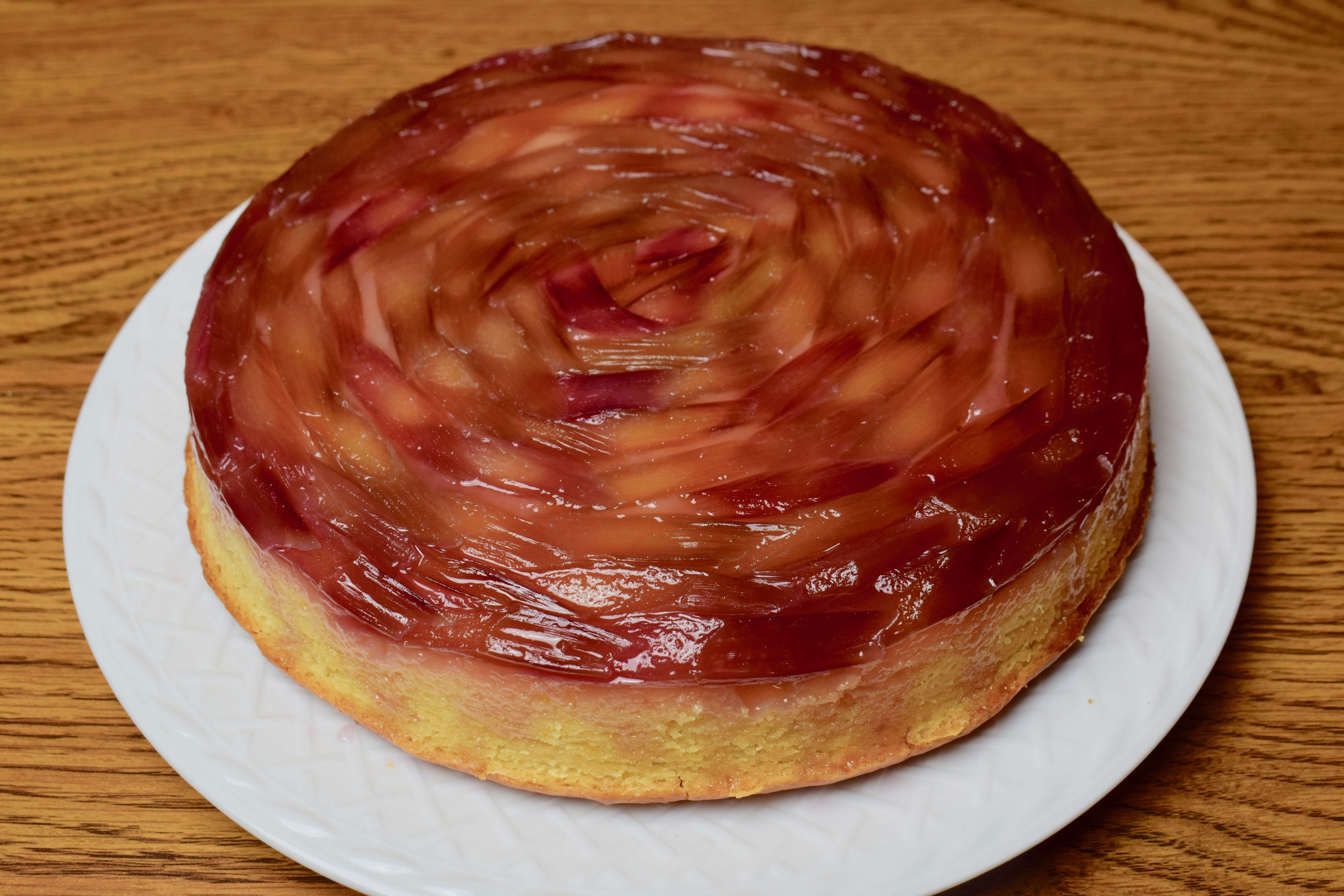 Rhubarb Upside Down Cake Dessert Recipe That Is Perfect For Spring