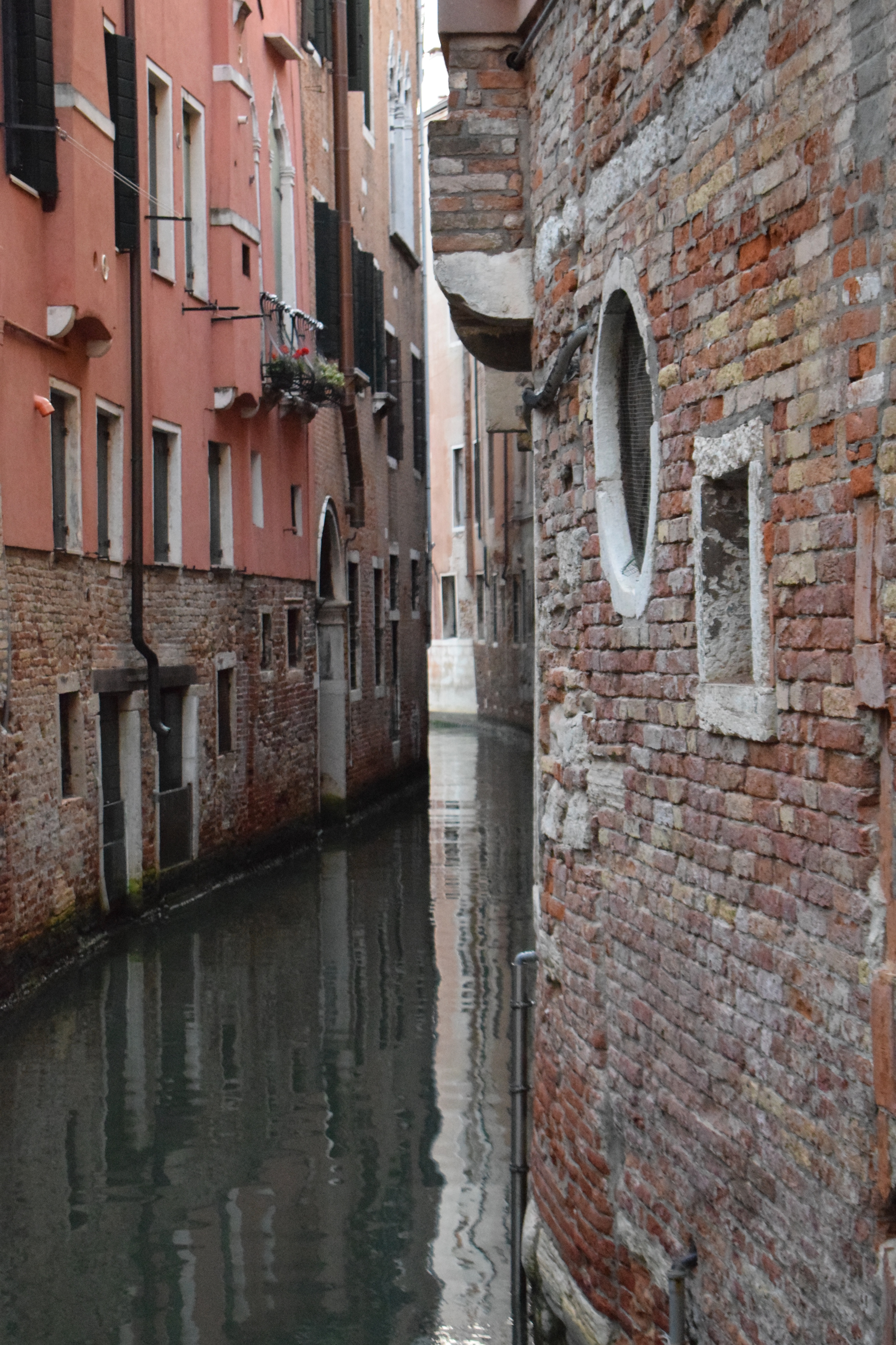 Buildings Reflected in a Small Venice Canal